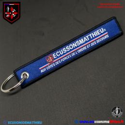 """Porte clés """"ECUSSONSMATTHIEU"""""""