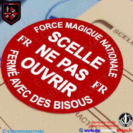 Autocollant - Scellé Ne Pas Ouvrir - Force Magique Nationale